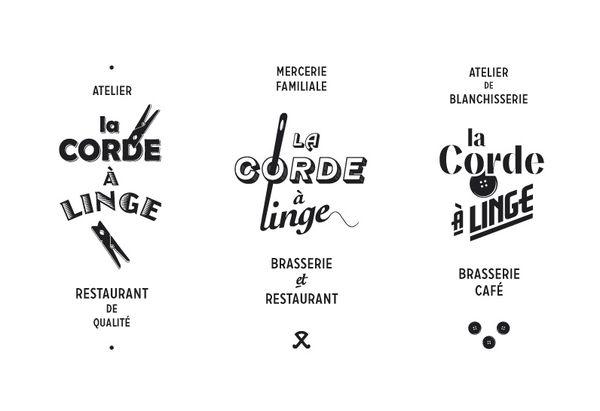 La Corde à Linge (The Clothesline) restaurant identity.