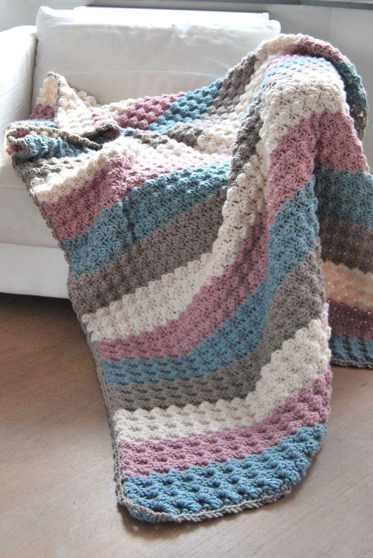 Haakpakket deken blanket stitch Stylecraft Weekender deken - Echtstudio, de Stylecraft specialist.