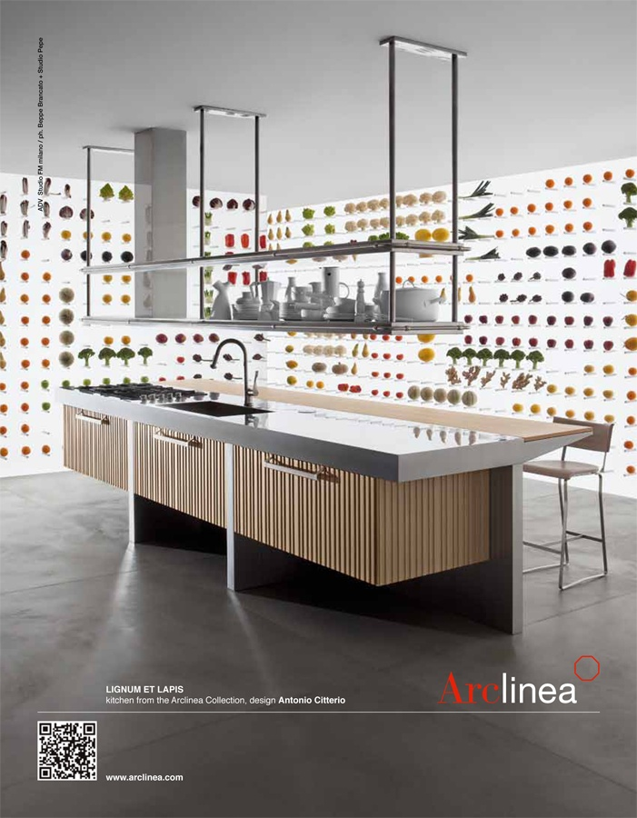 Arclinea Lignum Et Lapis Advertisement   With Fantastical Kitchen Walls