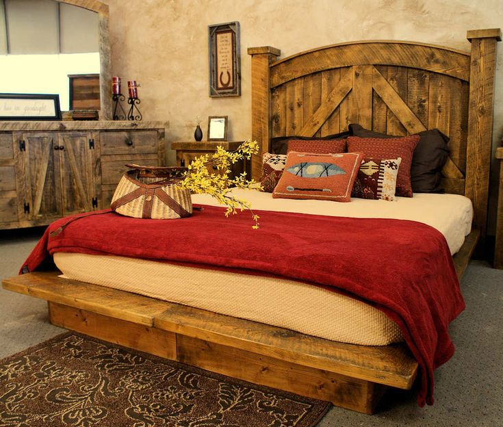 Bed Design With Rustic Furniture