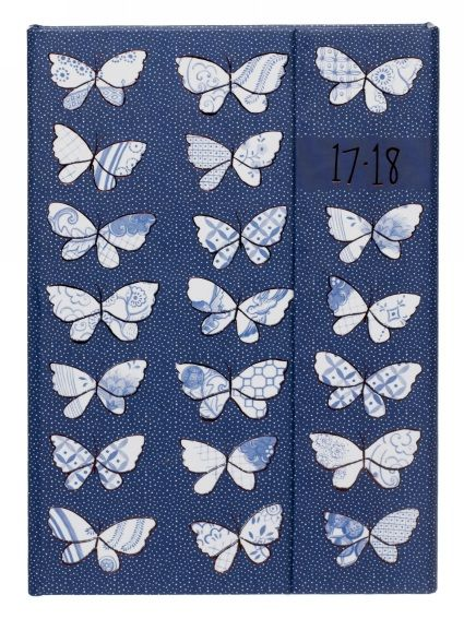 Buy WHSmith 2017-18 A6 Blue Butterfly Magnetic Mid Year Diary Day to Page From WHSmith today