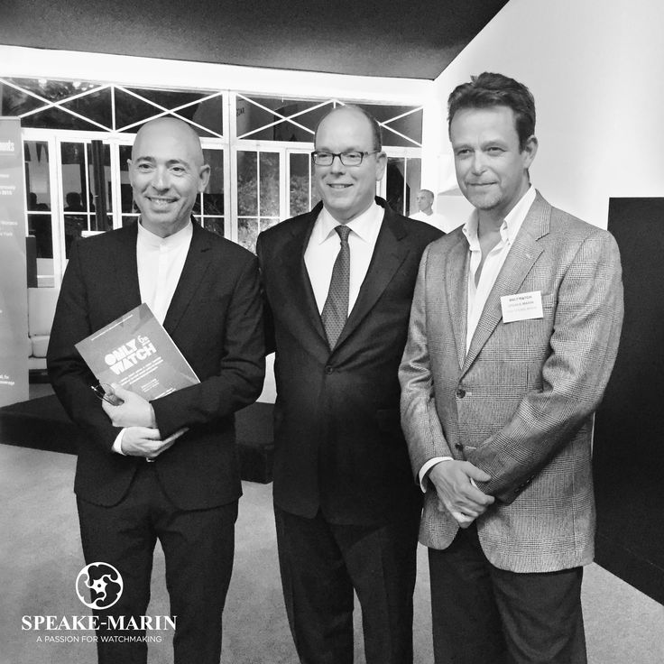 Yesterday, Peter Speake-Marin met the Prince Albert II of Monaco and Luc Pettavino, founder of the Only Watch, to support the association.  Do not forget that the auction for Only Watch will take place tomorrow in Geneva! www.speake-marin.com #speakemarin #onlywatch #phillips