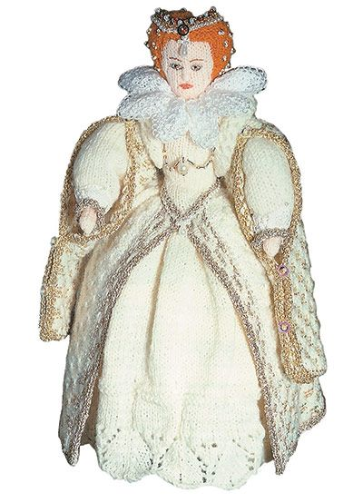 Knitted Queen Elizabeth I