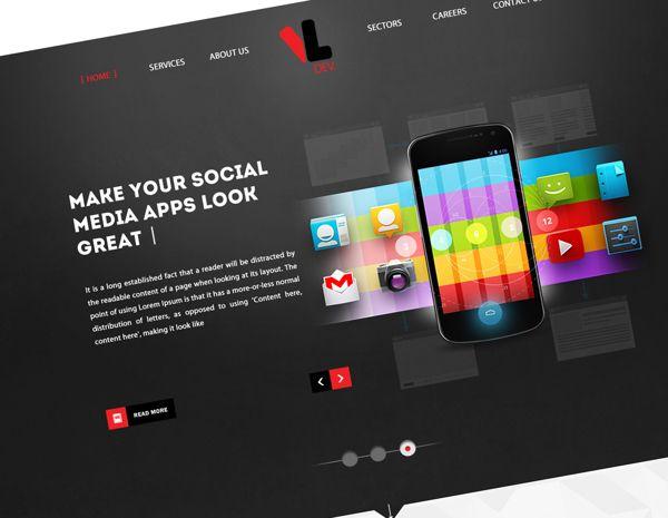 VlDev Website by Mahmoud Fahim, via Behance