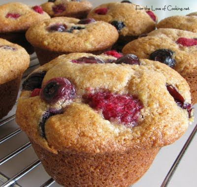raspberry, blueberry, bannana muffins, this is a really yummy reciepe, just made it today!