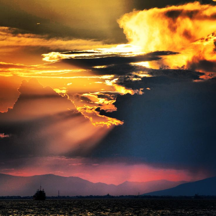 Sunset in Thessaloniki.