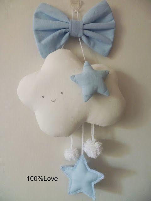 100%LOVE: Fiocco nascita nuvoletta bebè