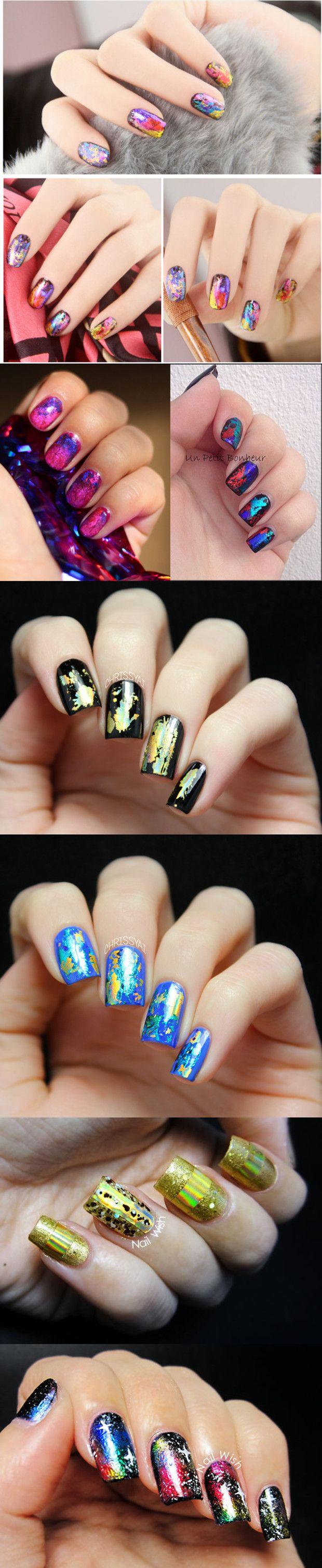 $0.99 Fantasy Starry Holo Nail Foils Glitter Transfer Stickers Nail Decoration 30 x 10cm - BornPrettyStore.com