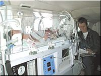 A transport incubator is used when a sick or premature baby is moved from one hospital to another -- for example, from a community hospital to a larger medical center that has a neonatal intensive care unit. In fact, a transport incubator is like a little self-contained intensive care unit on wheels. It usually has a miniature ventilator (respirator), cardio-respiratory monitor, IV pump, pulse oximeter, and oxygen supply built right into its frame. A specially-trained physician, nurse, and…