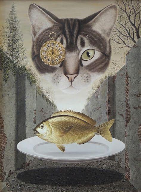 Gervasio Gallardo - Gato y pez