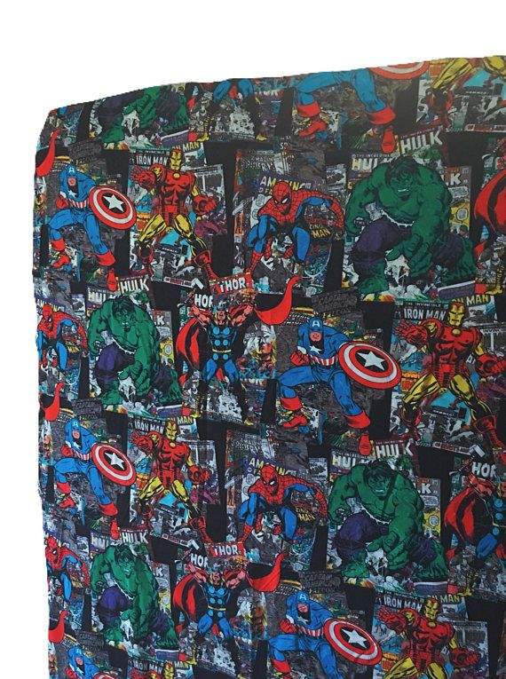 Superhero boy bedding - red superhero - crib or toddler sheets - avengers by glitterthread