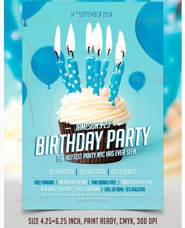 1000 images about Birthday Party Flyer Template – Birthday Invitation Flyer Template