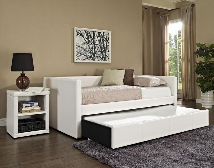 Bedroom: Affordable Daybed With Trundle And Storage Also Full Daybed With  Storage And Trundle From