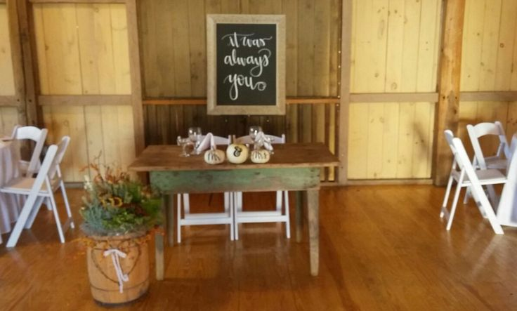 How about this stunning sign made by Katie Clark of #thisdelightfuldesign?! In fact all of the signs from Betsy & Kyle's dream fall wedding were made by her! Oh, and peep that incredible sweetheart table