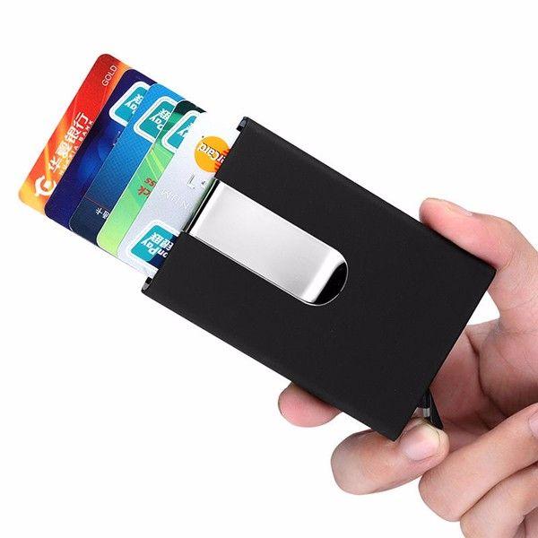 RFID Blocking Card Holder Credit Pocket Aluminum Magnet Money Safe Card ID Case