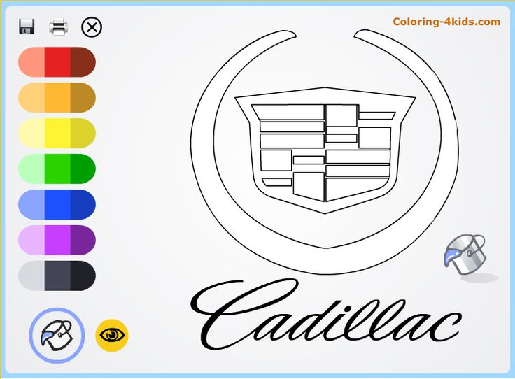 printable coloring pages of cadillac - photo#34