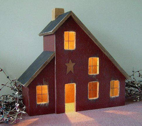 saltbox houses primitive | ... Primitive Houses and Lighted Saltbox Houses by Raystown Primitives