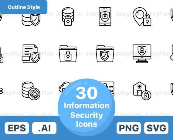 Information Security Icons Vector Icons Instant Download Website Icons Blog Icons Svg Png Eps Ai Clip Art In 2020 Sticker Maker Spice Things Up Icon