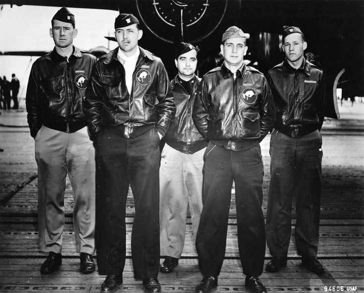 One of the Doolittle Raid B-25 bomber crews aboard USS Hornet shortly before the mission, Apr 1942. Face expressions are justifiably concerned.