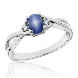Blue Star Sapphire Ring - I'm like an 8 year old..  I still love this stone!