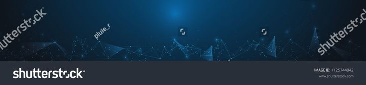 Abstract banner Molecules with Circle, Line, Geometric, Polygon,Triangle pattern. Vector design network communication technology on dark blue backgrou…