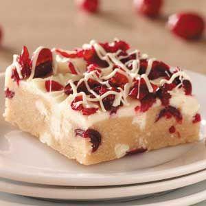 White Chocolate Cranberry Blondies Recipe