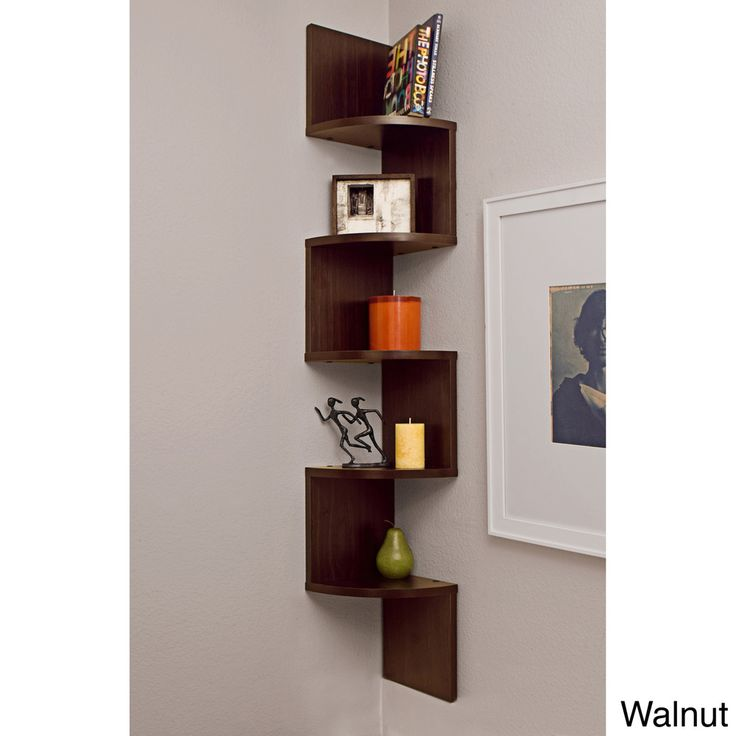 Estante esquinero de pared, enchapado y laminado | Overstock.com Shopping - The Best Deals on Media/Bookshelves
