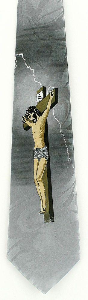42 best christian religious easter images on pinterest easter crucifixion mens necktie christian jesus religious easter gift him neck tie new stevenharris necktie negle Gallery
