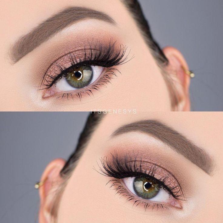 Soft smokey eye on @itsgenesys with Spellbound lashes to match!  Makeup…