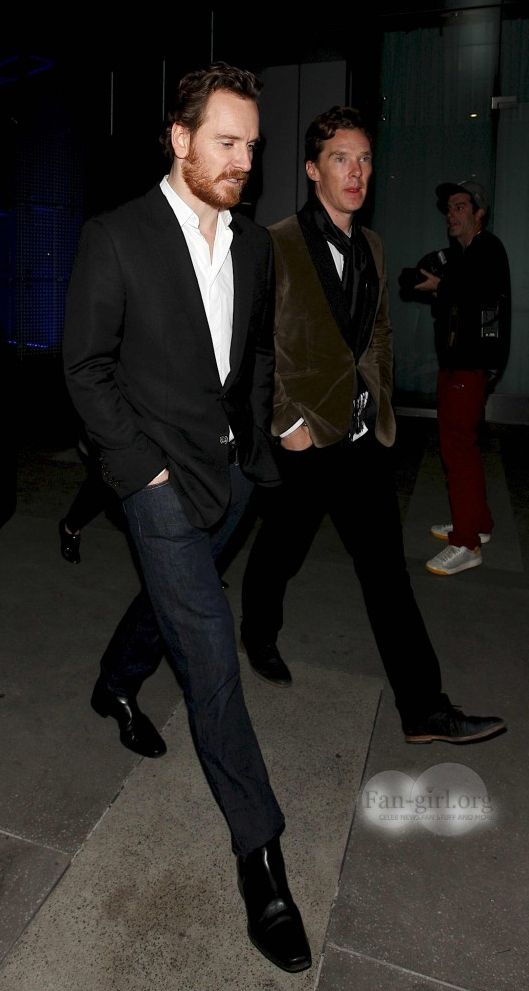 Benedict Cumberbatch and Michael Fassbender, two of my FAVORITE actors!!