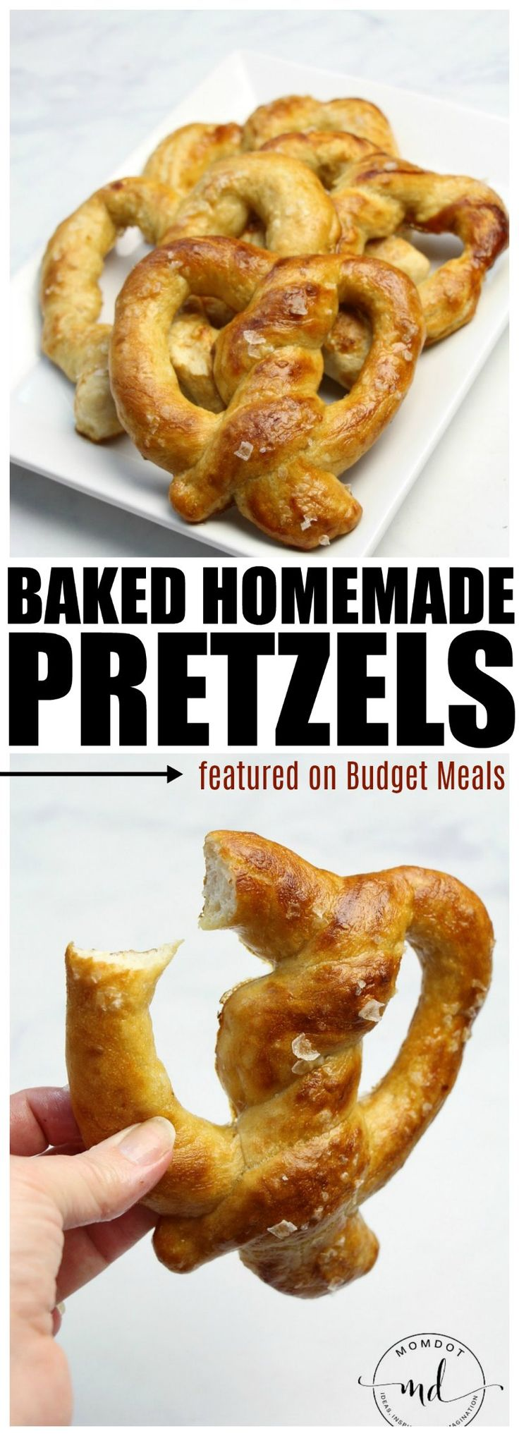 Baked Homemade Pretzels are sure to hit the spot! Perfectly salty and easy to customize , you will not believe how easy it is to create and enjoy