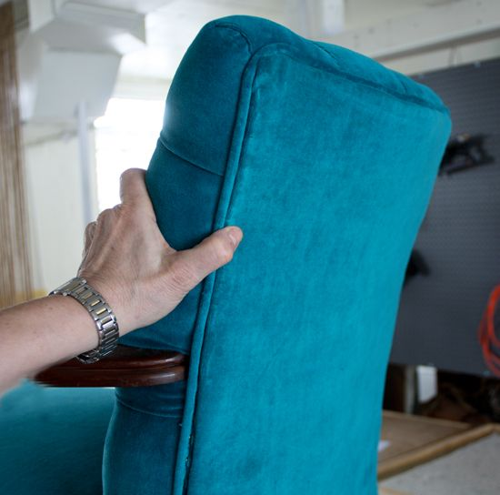 How to upholster the outside back of a chair