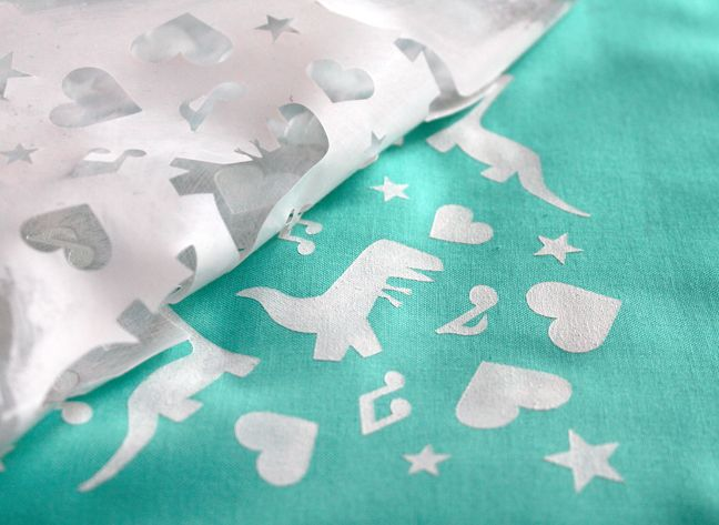 Fabric Stencil Tutorial | Paint Your Own Fabric with your Silhouette by Jessee M for Silhouette America