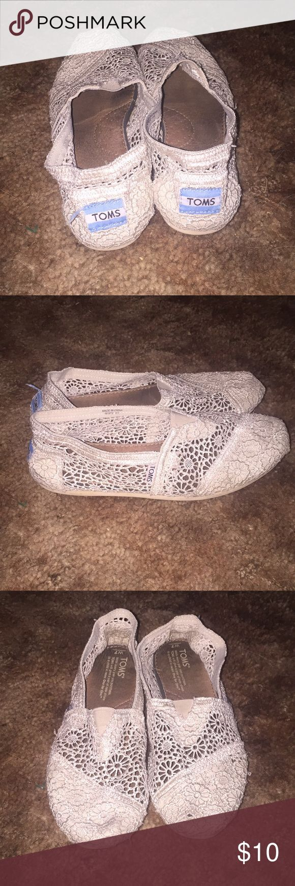 Toms shoes Lace toms. In good shape but have been worn Toms Shoes Sandals