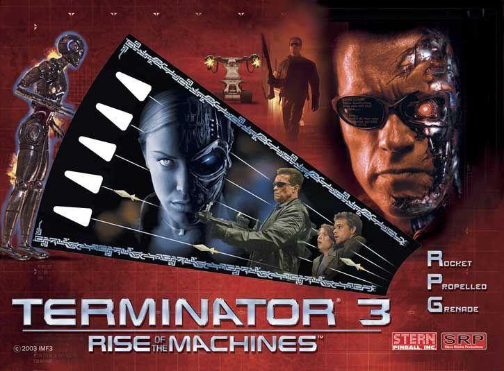 Terminator 3: Rise of the Machines, Stern Pinball, June 2003, backglass