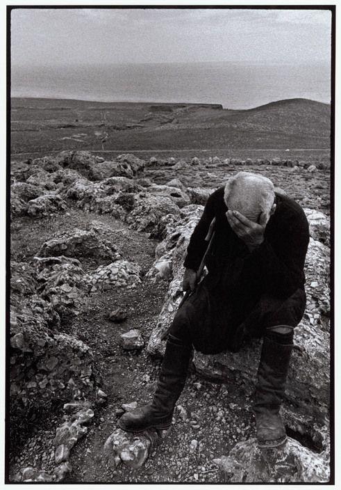 """Constantine Manos  Greece. Crete. Sfakia. 1964. Shepherd. """"A Greek Portfolio"""" p.36 © Costa Manos/Magnum Photos http://pro.magnumphotos.com/"""