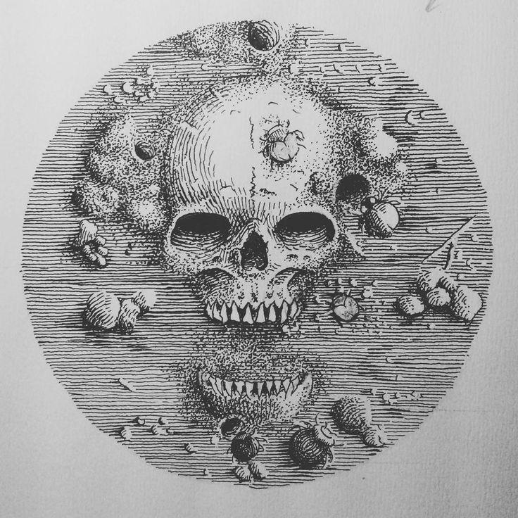 """Done. ""Scrab"" Avaliable artwork. Please contact me on blckcldart@gmail.com #artdesign #artwork #artblack #drawing #illustration #pointilism #line…"""