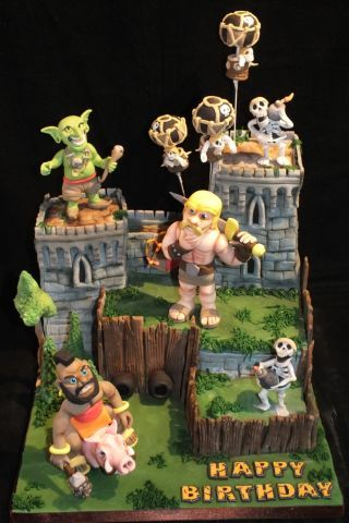 Clash of Clans cake - Cake by Mother and Me Creative Cakes - CakesDecor
