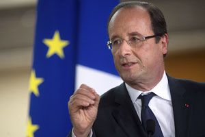 """French President Francois Hollande said on Monday his country would stand firm on its demand that the Iranian regime vow not to pursue nuclear weapons ahead of fresh international negotiations. Hollande said on France Inter radio: """"If there is no..."""