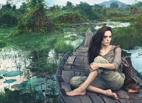 "Angelina Jolie's ad for Louis Vuitton is out in full! The 10-minute clip features Angelina discussing her experiences in Cambodia.    In the film, Angelina talks about the significance of the country for her family with her sons eating the local delicacy of crickets ""like Doritos"".    She first travelled to Cambodia 10 years ago while on the set of the Tomb Raider film and was surprised to learn that it was the first film to be shot there after the war."