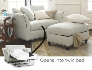 Love seat with a pull out bed