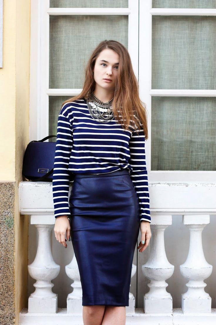 16 best leatherlook Blue images on Pinterest | Leather pencil ...