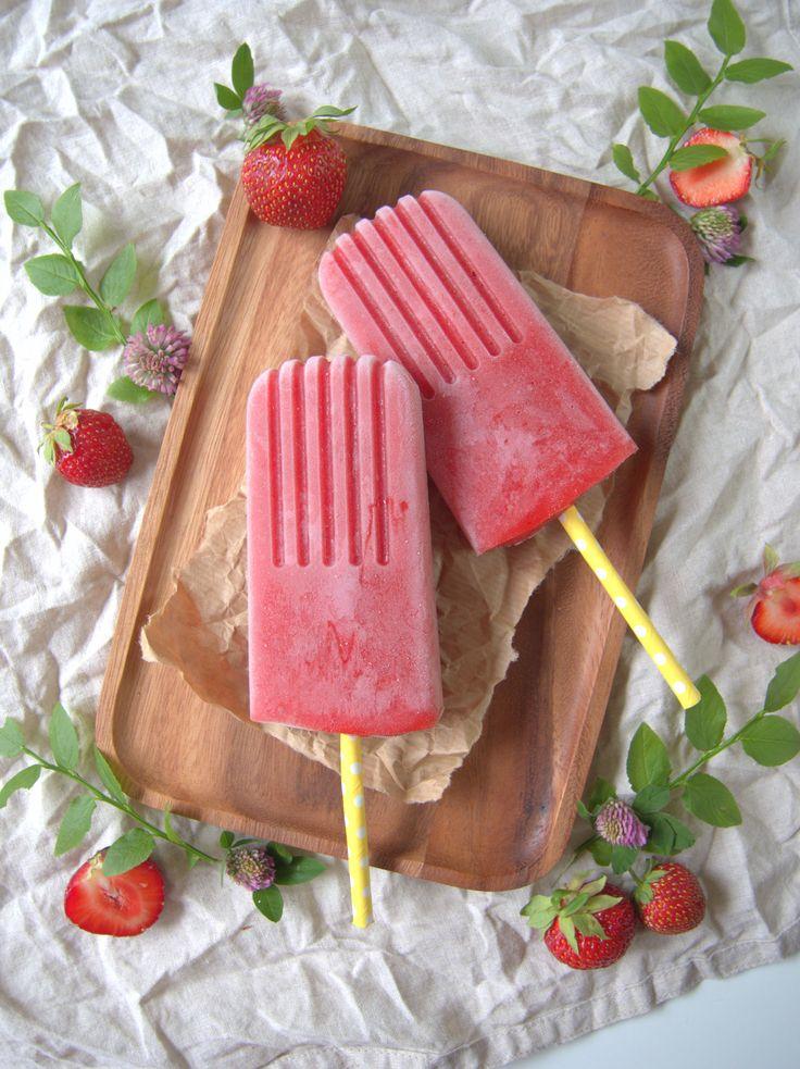 Strawberry-watermelon popsicles