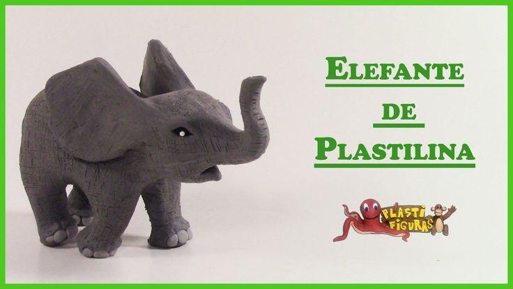 Como Hacer Elefante Bebé de Plastilina/How to Make Baby Elephant with Pl...