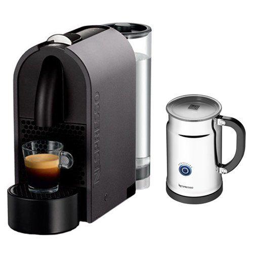 nespresso u mat grey espresso machine with aeroccino plus milk frother