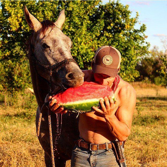 @australian_cowboy and Bluestar doing what mates do best #ringerswestern #ringerforadollar @ringerswestern shop link in bio http://ift.tt/1VSP58U