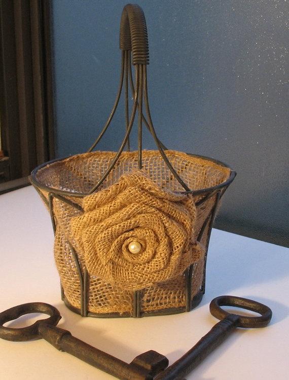 Flower Girl Basket by ShabbyChicRose on Etsy