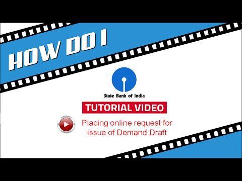 SBI INB: Placing request for issue of Demand Draft through OnlineSBI - YouTube