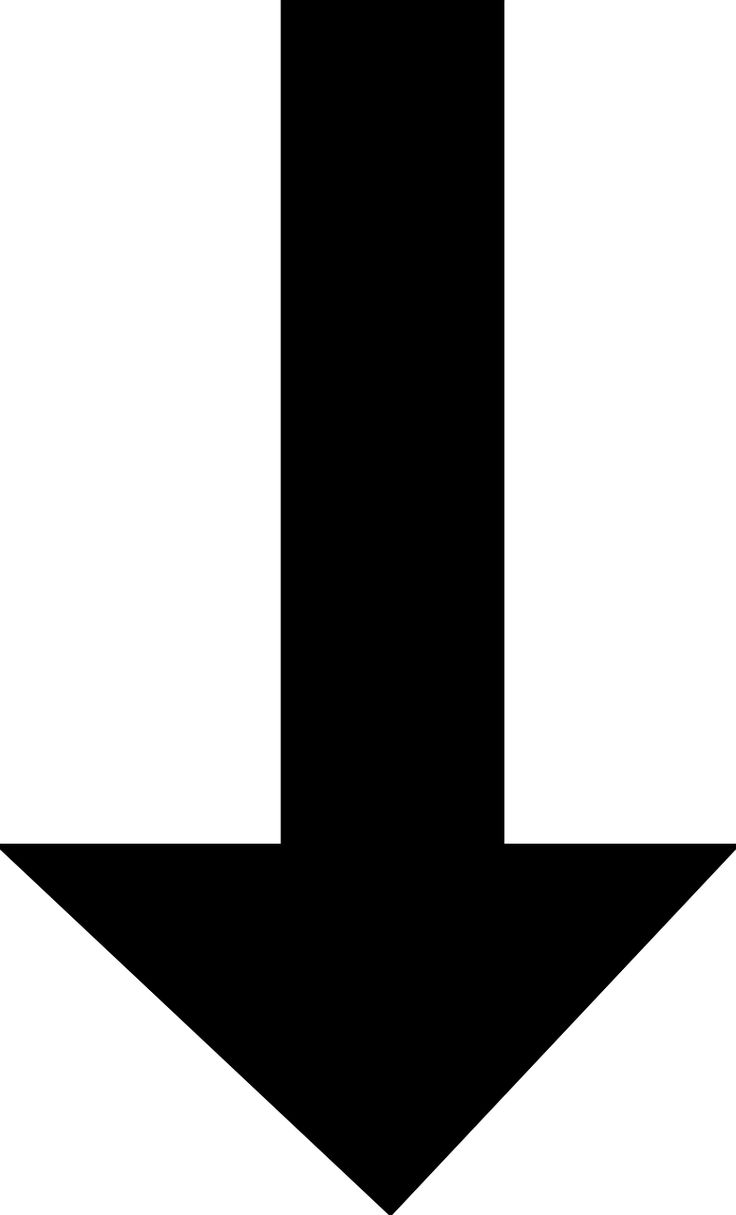 Arrow Pointing Down Downward transparent image