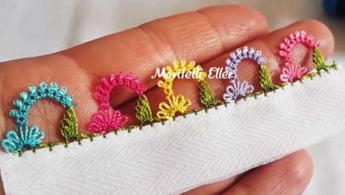 İğne Oyası Taç Çiçek Modeli Yapımı Videolu Anlatımlı